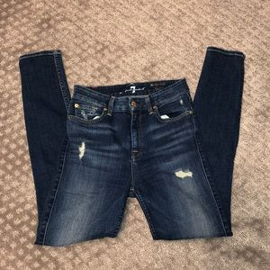 Seven for all mankind high waist skinny 26